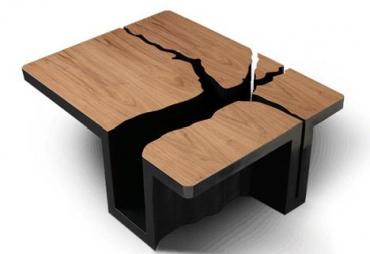 Столы из необычных материалов от Waterscape Tables